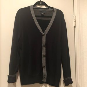 Banana Republic Charcoal Black V-neck  cardigan L